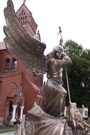 Archangel Michael, battle with a dragon