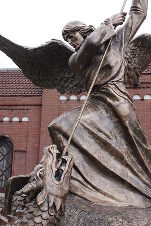 大天使ミカエル、ドラゴンとの戦い 報道画像