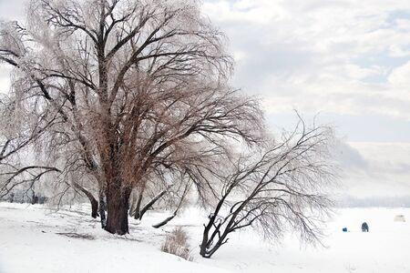 frost bound: Winter landscape Stock Photo