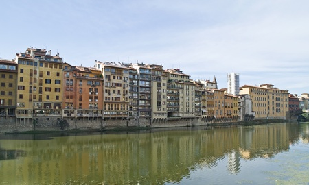 arno: Embankment of Arno river Stock Photo