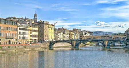 river arno: River  Arno, HDR