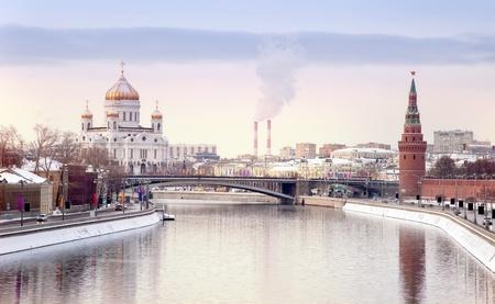 モスクワ市の冬の風景 写真素材
