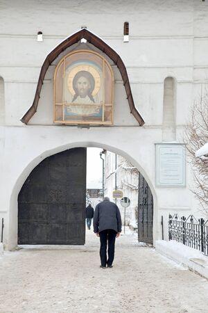 Entrance into the monastery. Bow  Stock Photo - 11941034