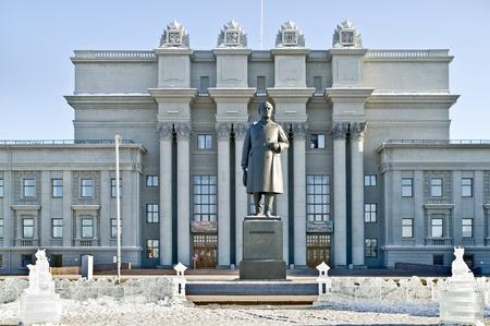 revolutionary: Sculpture of revolutionary