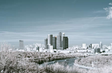 infra red: Moscow. Infra-red image