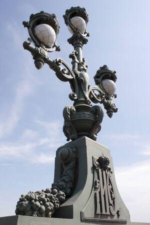 plafond: Lantern on the Troitsky bridge Stock Photo