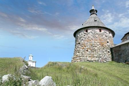 Korozhnaya tower of the Solovetsky monastery Stock Photo - 12651299