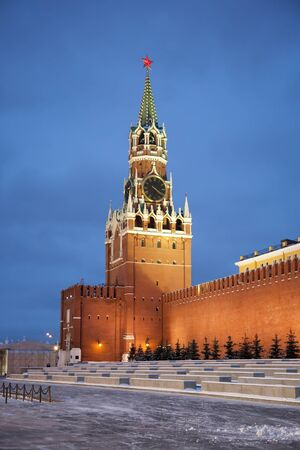 Spasskaya tower of Kremlin photo