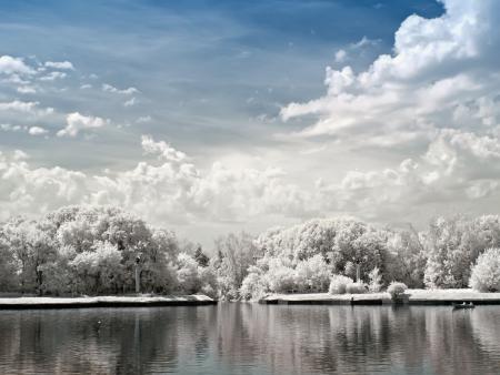 Park Kuskovo. Large Palace pond