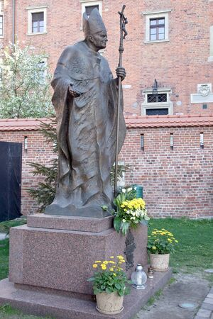 Sculpture of Pope John Paul II Stock Photo - 16180206