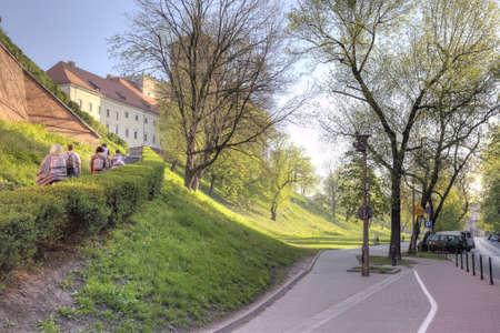 levantandose: Levantarse en una colina al castillo de Wawel Editorial