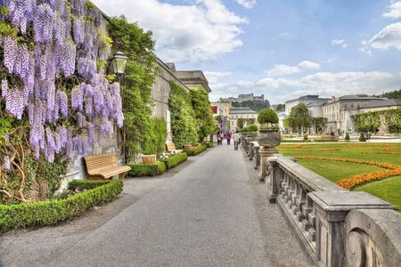 ancient pass: Gardens in Mirabell Palace