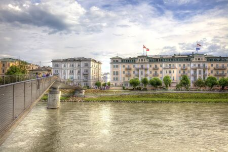 Bridge across the river Salzach Stock Photo - 16326542