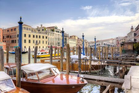 Dock on the Grand Canal. Venice
