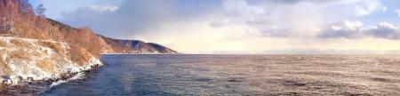 listvyanka: Lake is Baikal