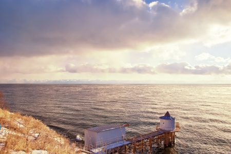Water tower on a lake Baikal Stock Photo - 16789569