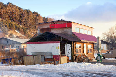 Settlement of Listvyanka  Cafe