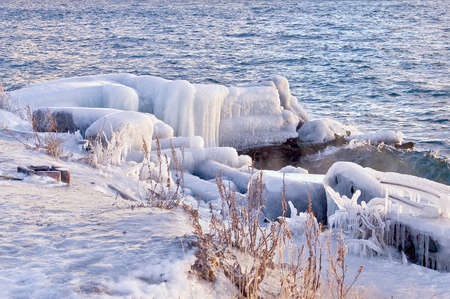 Ashore lake Baikal photo