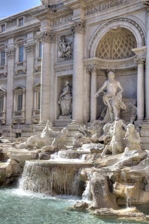 allegory: Trevi Fountain Stock Photo