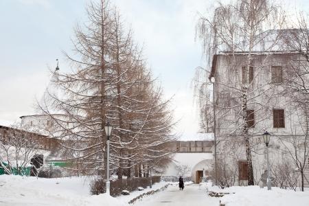 On the territory of the monastery Novospassky Stock Photo - 17888618