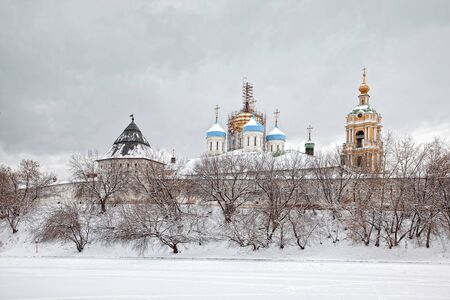 Novospassky monastery Stock Photo - 17888632
