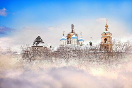 Novospassky monastery, the collage  Stock Photo - 17888619