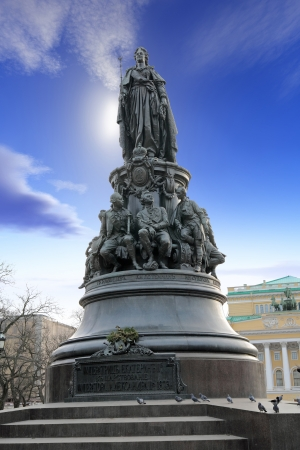 sceptre: Ancient monument to the Russian empress to Catherine in city Saint Petersburg Stock Photo