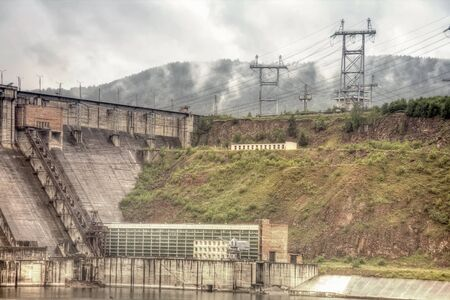 Krasnoyarsk hydroelectric power plant photo