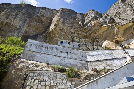 Uspensky Cave Monastery Stock Photo - 18095588