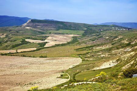 vineyard plain: View from a mountain Uzun-syrt