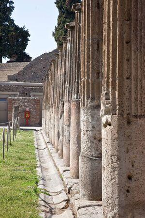 pompeii: Pompeii, colonnade Stock Photo