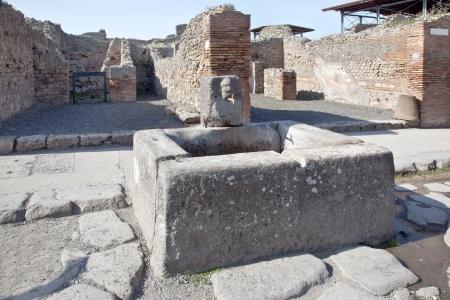 drinkable: Pompeii  Drinkable fountain Stock Photo