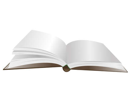 deployed: Illustration, open book on a white background