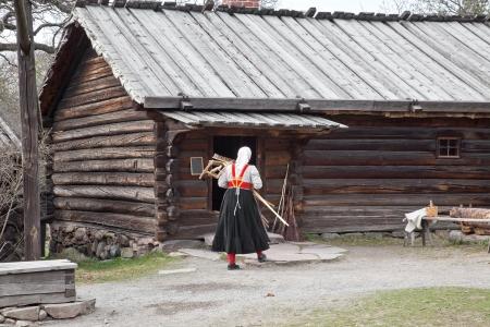 workwoman: Ancient farmstead