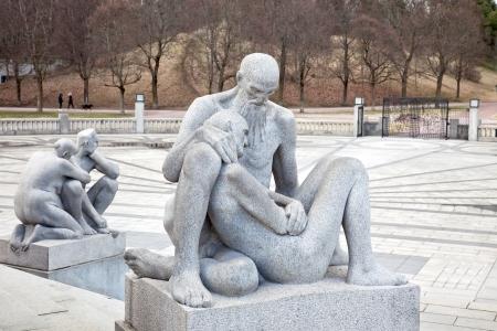 Sculptures in Frogner park
