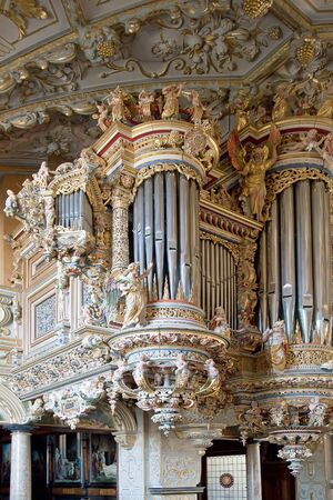 Denmark. Frederiksborg castle. Organ Stock Photo - 20658124