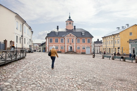 lowering: City of Porvoo Stock Photo