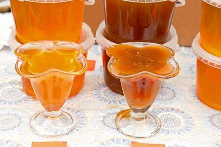 Sale of honey photo
