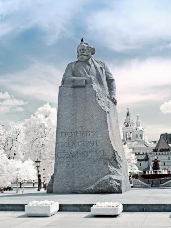 karl: Karl Marx  Infrared photo Stock Photo