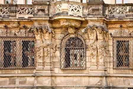 atlantes: Facade of ancient house