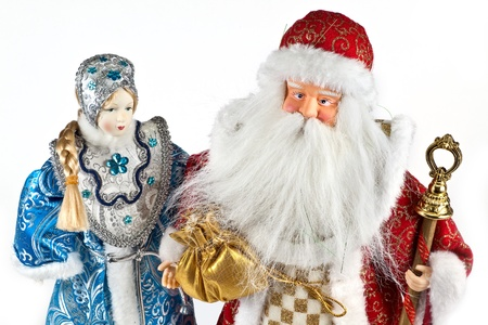 'ded moroz': Chinese newyear toys, Ded Moroz and Snegurochka
