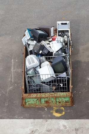 Garbage is in a container Stock Photo - 22151159