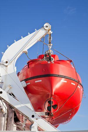 shipway: Rescue boat Stock Photo