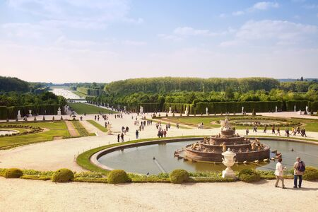 sightseers: Versailles palace complex. HDR