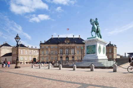frederick street: Brokkdorffa Palace and the statue of Frederick V