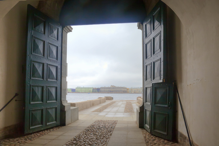 View of the Neva river from the fortress photo
