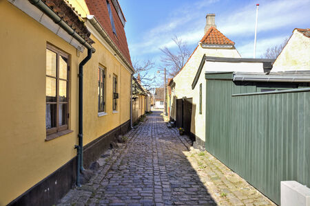 reconstruct: Fishing village with houses of the 16th century, where it is forbidden to reconstruct the facades of houses