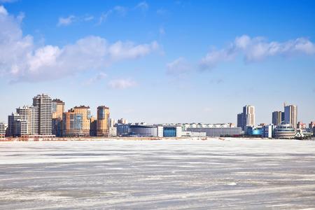 thawed: Kazan  Cityscape  Stock Photo