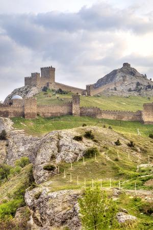 impregnable: Genoese fortress. Sudak. Crimea