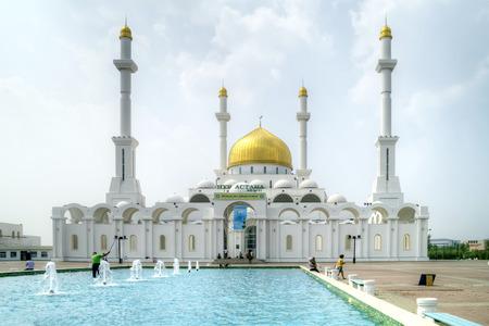 greatest: ASTANA, KAZAKHSTAN REPUBLIC - June 24, 2013: Nur-Astana Mosque. Greatest mosque in the republic of Kazakhstan and Asia